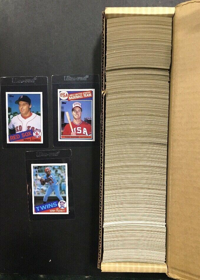 1985 Topps Complete Baseball Card Set Mint Mark McGwire Rc Clemens Puckett Sharp