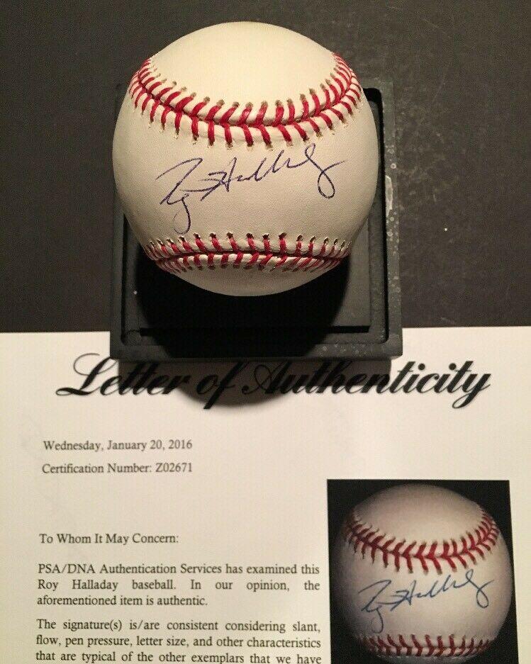 Roy Halladay Signed Official Mlb Baseball PSA Loa Mint 10 Autograph Hof Beauty