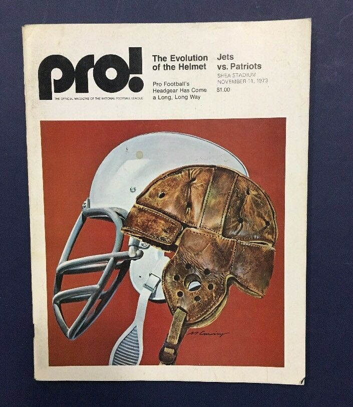 1973 New York Jets Pro Program vs Patriots Shea Stadium Nov 11 Joe Namath
