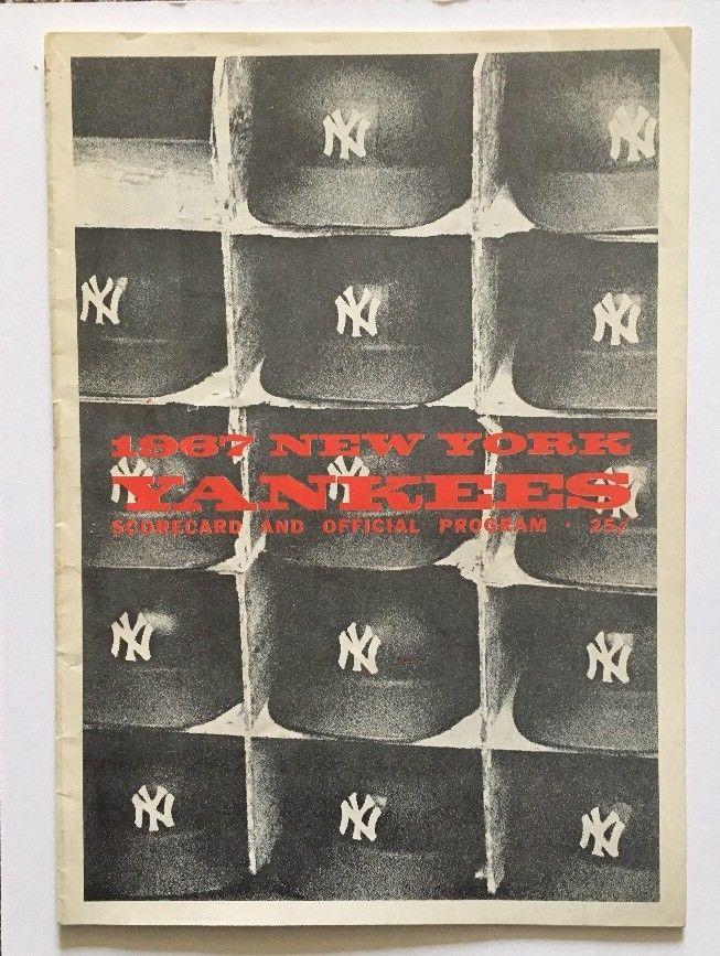 1967 Yankees Vs Indians program Yankee Stadium Mickey Mantle Hr Home Run Game