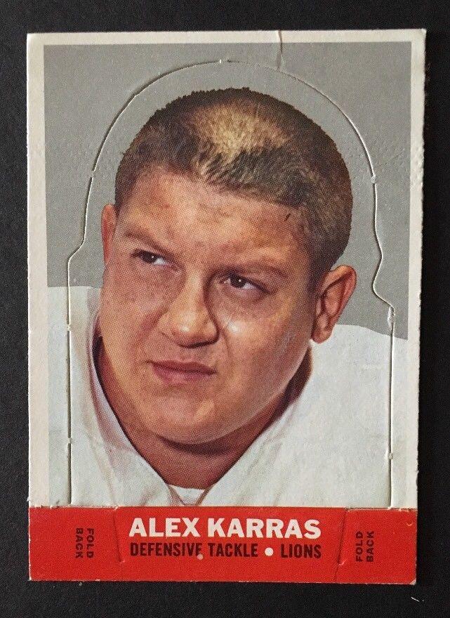 1968 Topps Stand Up Football Card #11 Alex Karras Detroit Lions Webster