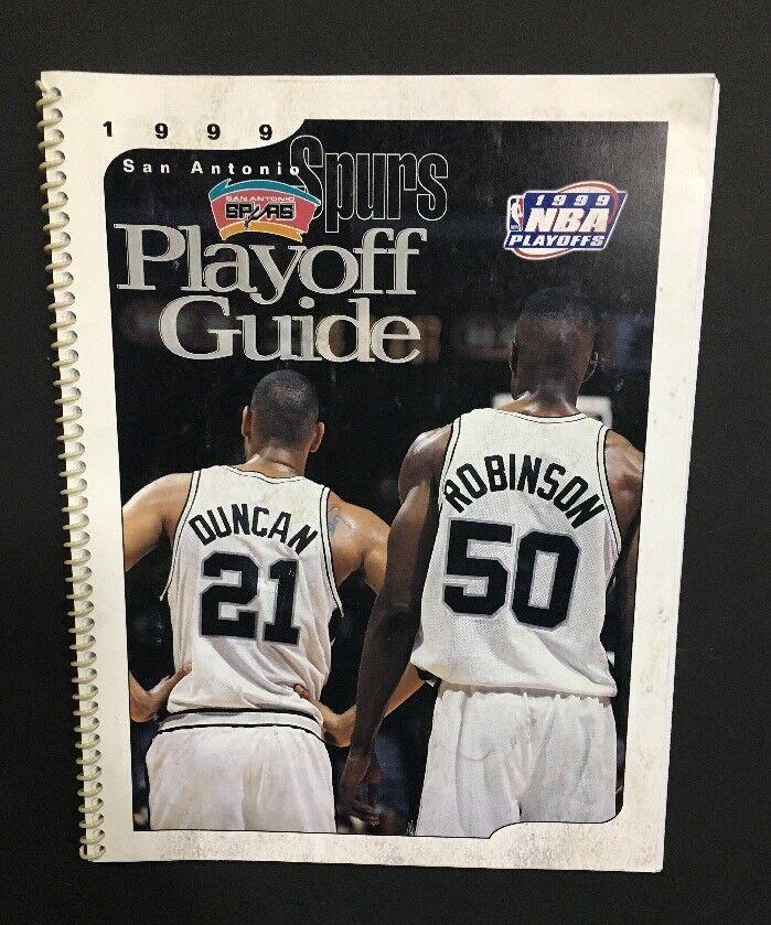 1999  San Antonio Spurs NBA Playoff Guide Media Tim Duncan David Robinson