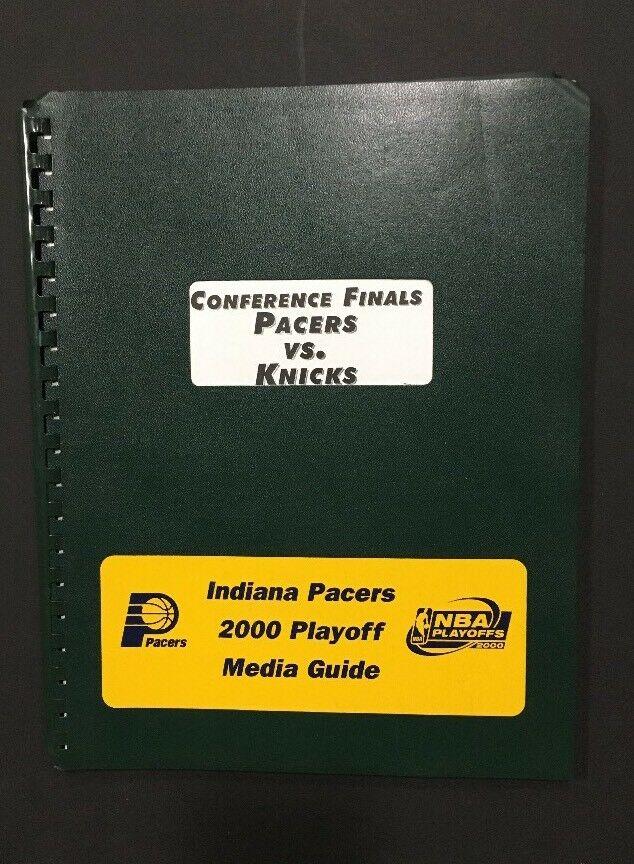 2000 NBA Indiana Pacers playoffs media guide  ReggIe Miller Vs Knicks Larry Bird