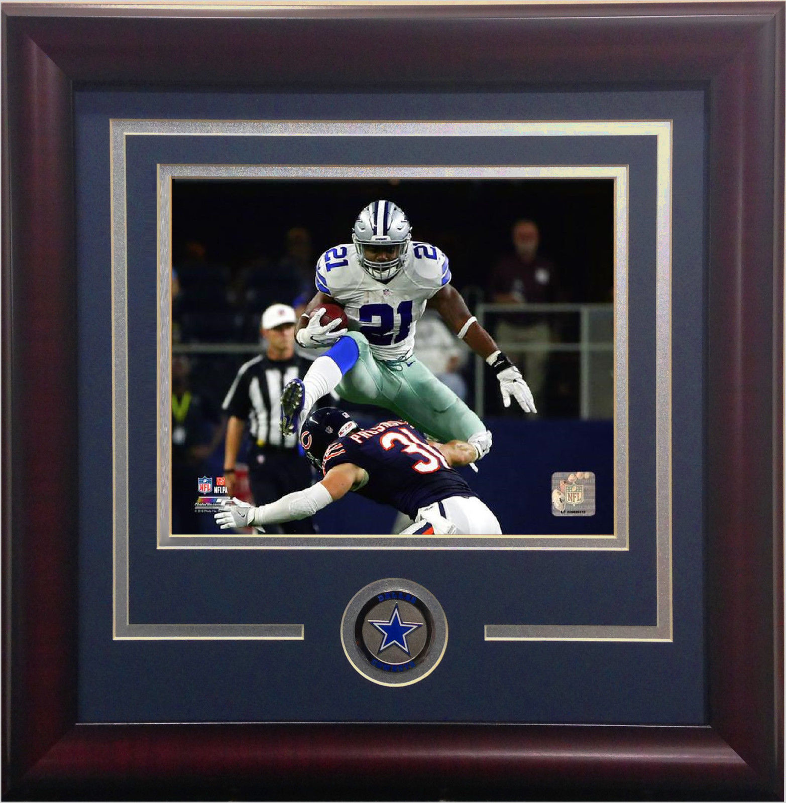 Ezekiel Elliott Dallas Cowboys Star Rookie RB 8×10 photo framed coin NFL