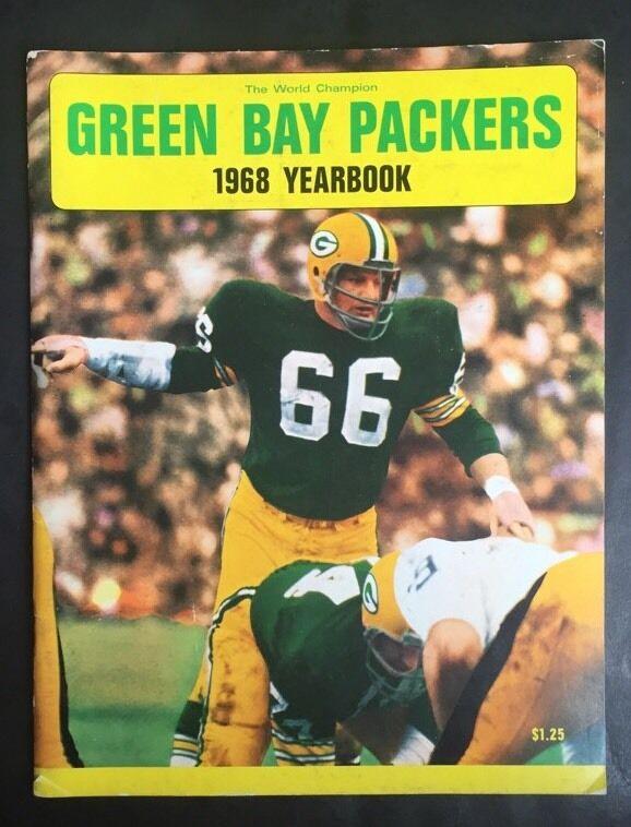 Green Bay Packers 1968 Yearbook Prototype World Champion Nitschke Starr Ice Bowl