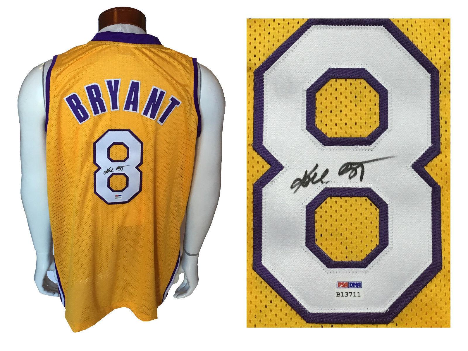 Kobe Bryant Signed yellow Lakers #8 rookie era Jersey BOLD Autograph PSA DNA COA