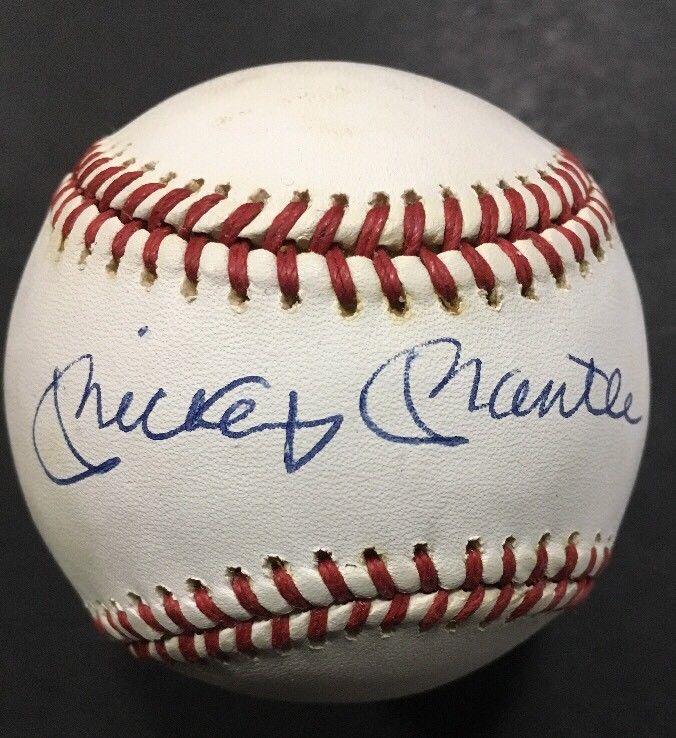 MICKEY MANTLE Signed AMERICAN LEAGUE BASEBALL Mint Autograph Expert Cbm Coa