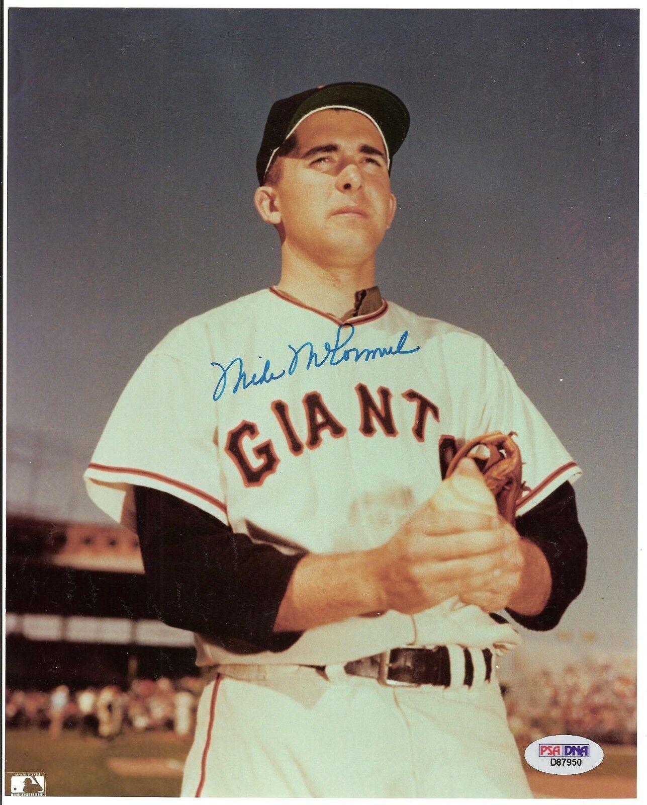 Mike McCormick New York Giants baseball  Signed 8 x 10 Photo PSA bold autograph