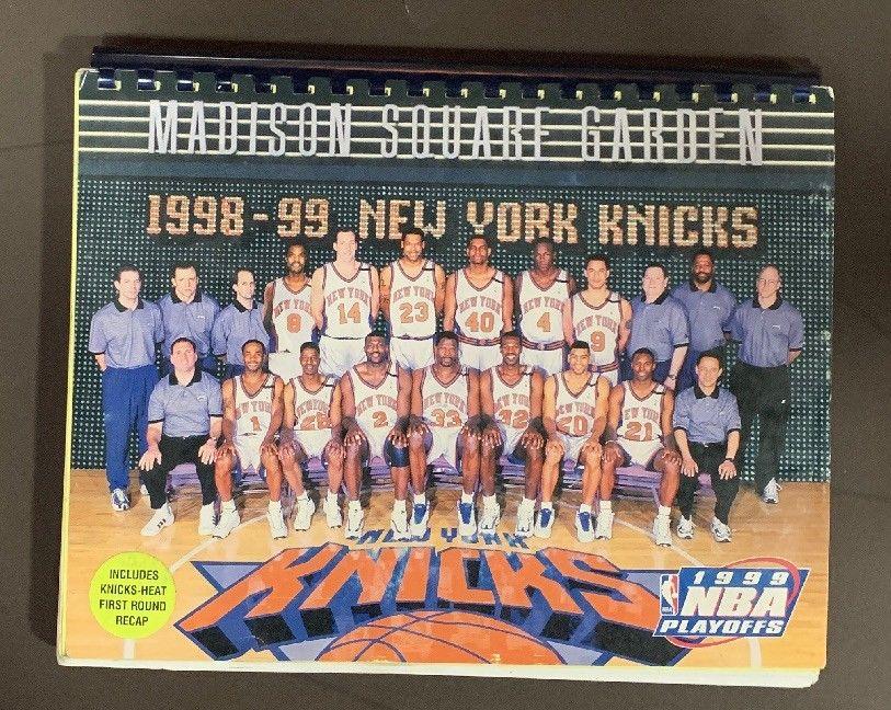 1999 NBA Playoffs Press Media Guide Knicks Patrick Ewing Jeff Van Gundy
