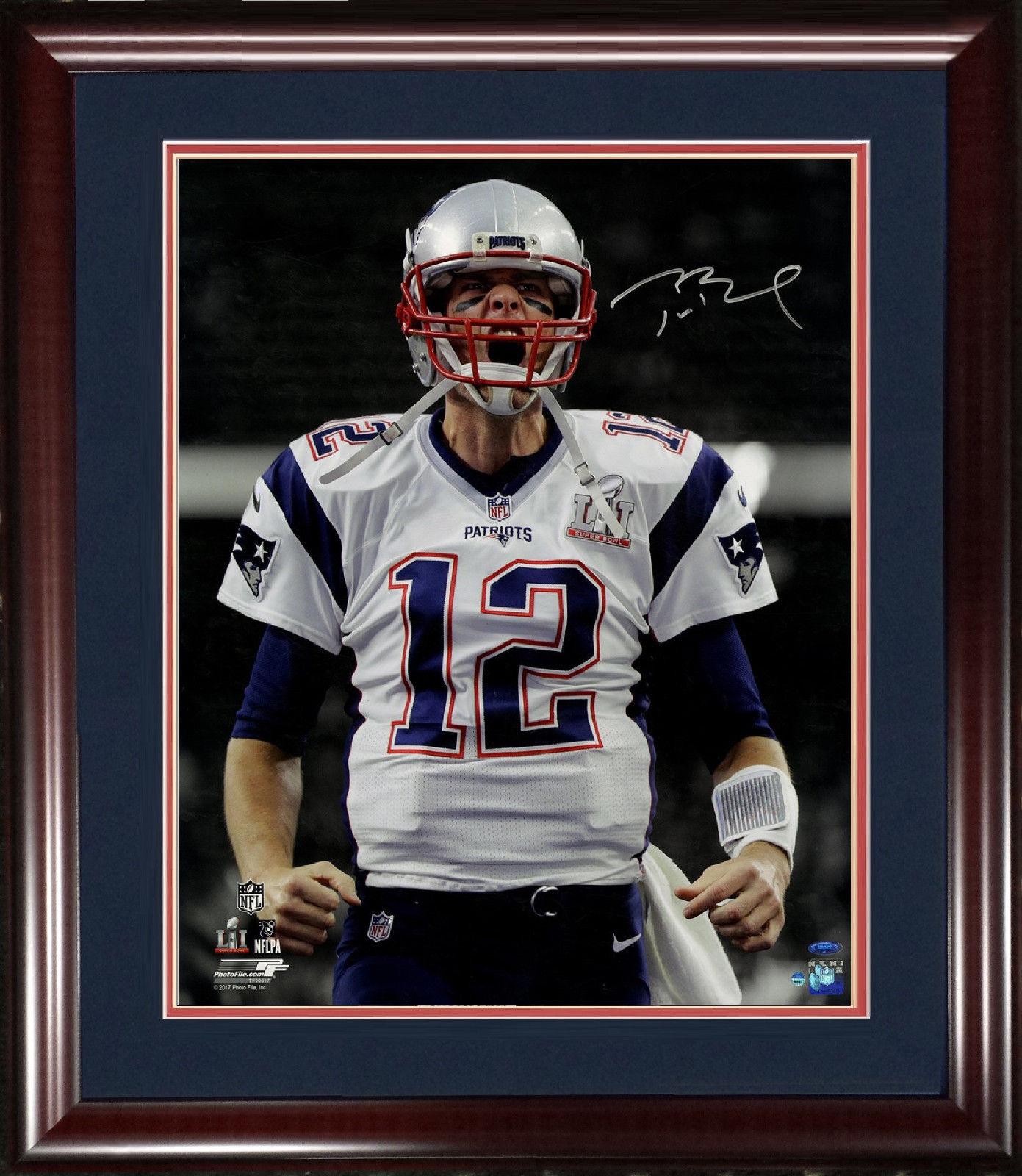 Tom Brady SB 51 MVP signed 20×24 photo framed auto Tristar Steiner COA