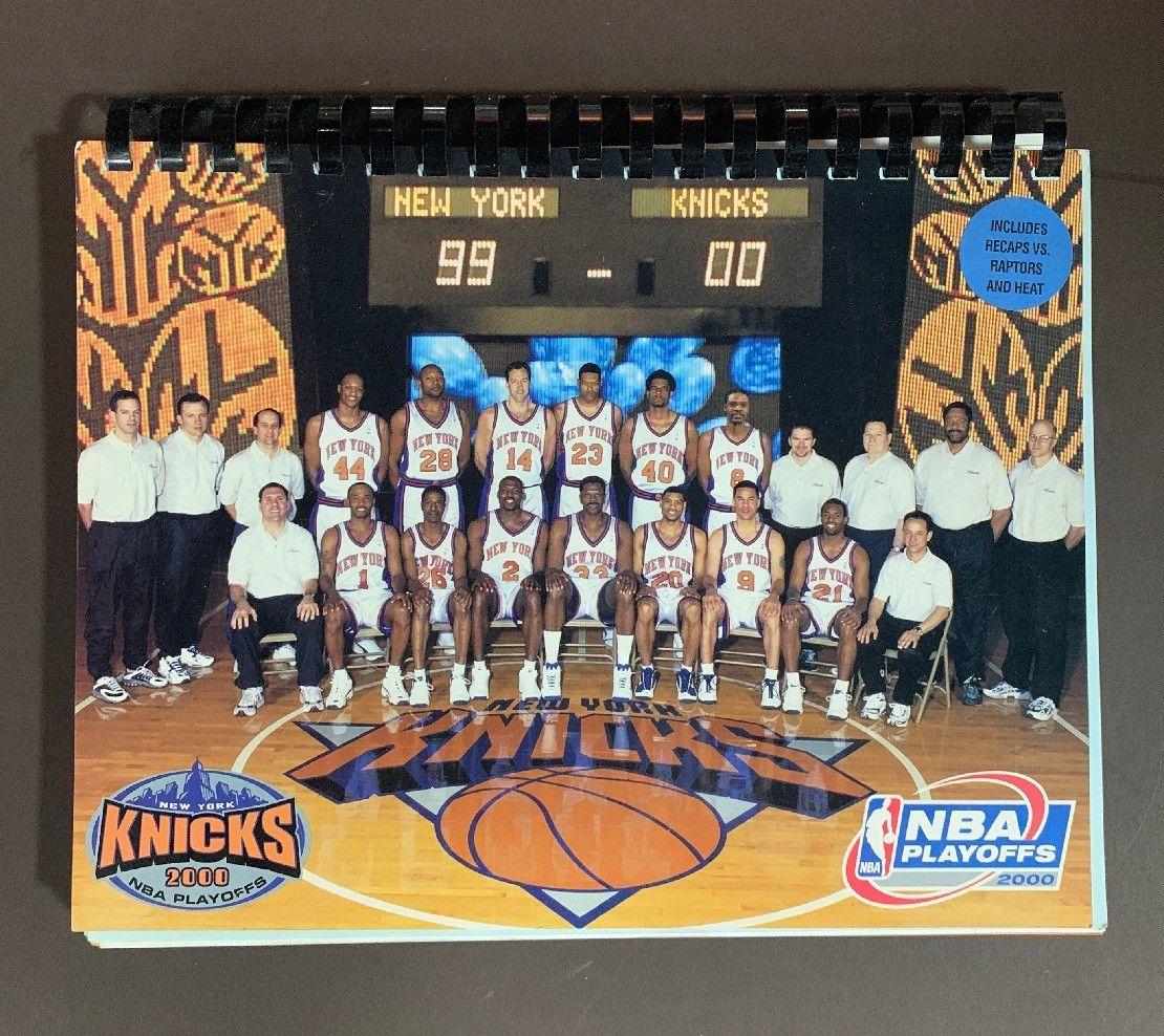 2000 NBA Playoffs Press Media Guide Knicks Patrick Ewing Jeff Van Gundy