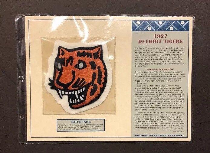 1927 Detroit Lions Patch LOST TREASURES OF BASEBALL 5×5 Charlie Gehringer Manush