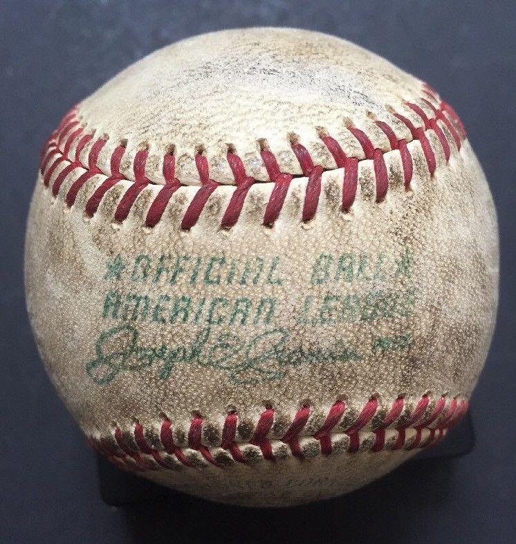 1968 A.L Baseball Joseph Cronin Game Used Yankee Stadium Mickey Mantle Coa