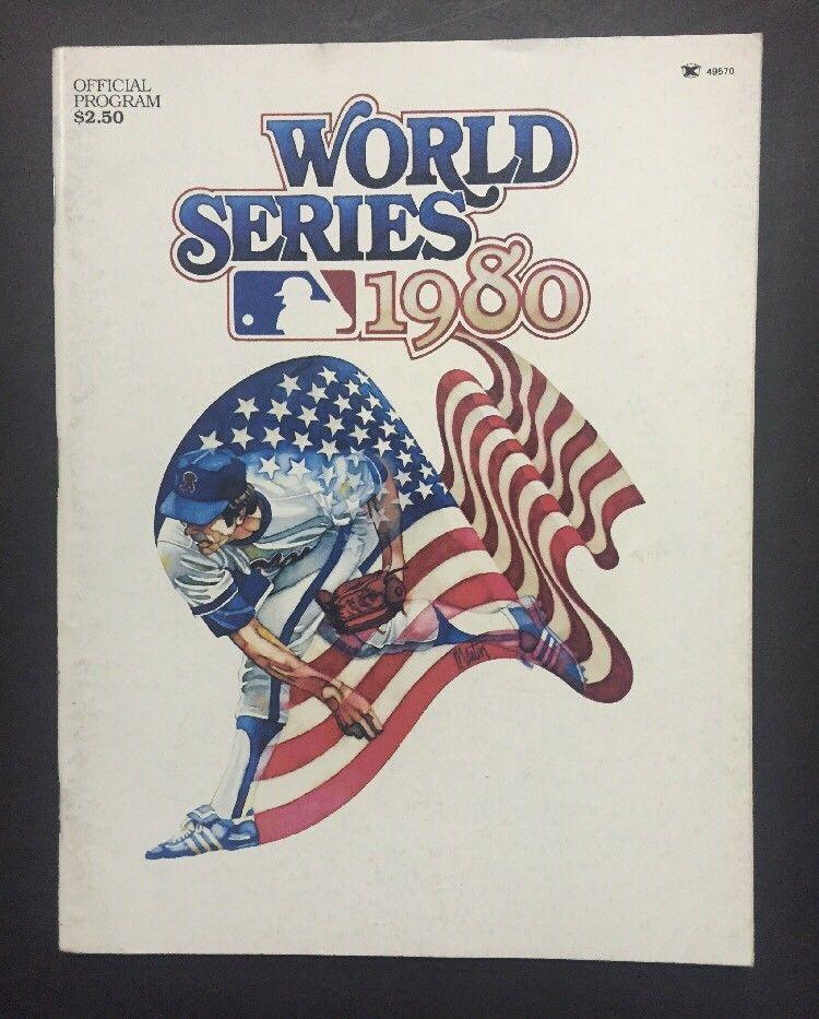 1980 WORLD SERIES PROGRAM PHILADELPHIA PHILLIES vs  KANSAS CITY ROYALS Nm Brett