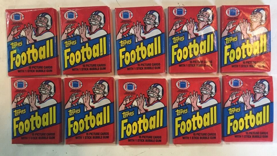 1982 Topps Football Wax Pack 10 Sealed Packs Lot MINT grade Lawrence Taylor RC