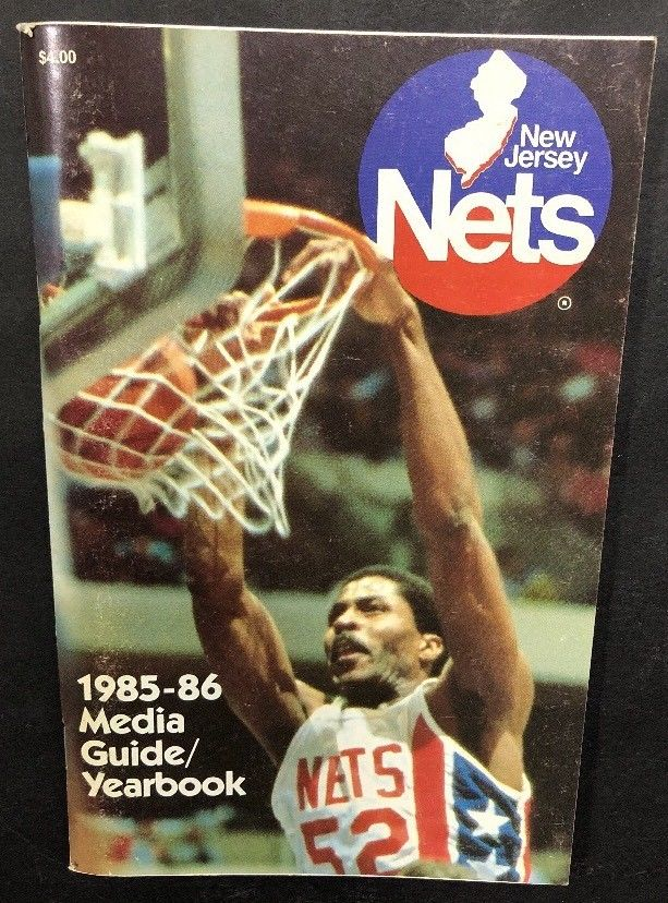 1985-86 Basketball New Jersey Nets Official Media Guide Yearbook Buck Williams