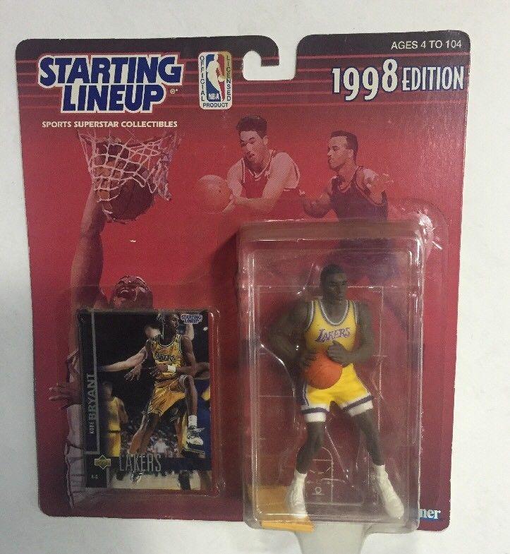 1998 Starting Lineup SLU Kobe Bryant  Lakers RARE Rookie & Card  Sealed Kenner