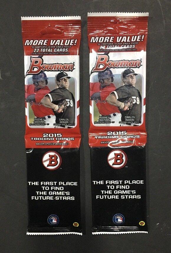 2015 Bowman Baseball Value Rack Pack 22 cards Sealed 2 Packs Gleyber Torres Auto