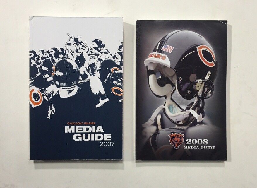 2007 & 2008 Chicago Bears NFL Football Media GUIDE Cd Brian Urlacher Forte