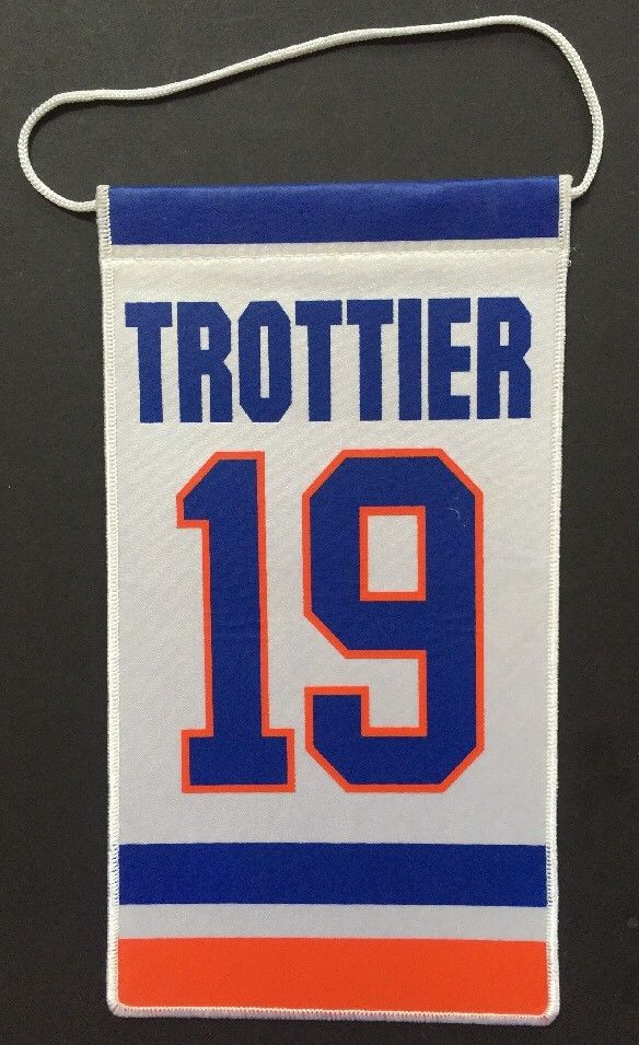 BRYAN TROTTIER ISLANDERS Original 10×6 RETIREMENT NIGHT BANNER #19 Stanley Cup
