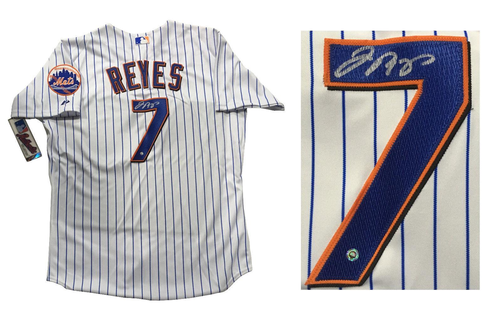 Jose Reyes signed Majestic authentic Mets baseball jersey autograph ML holo COA