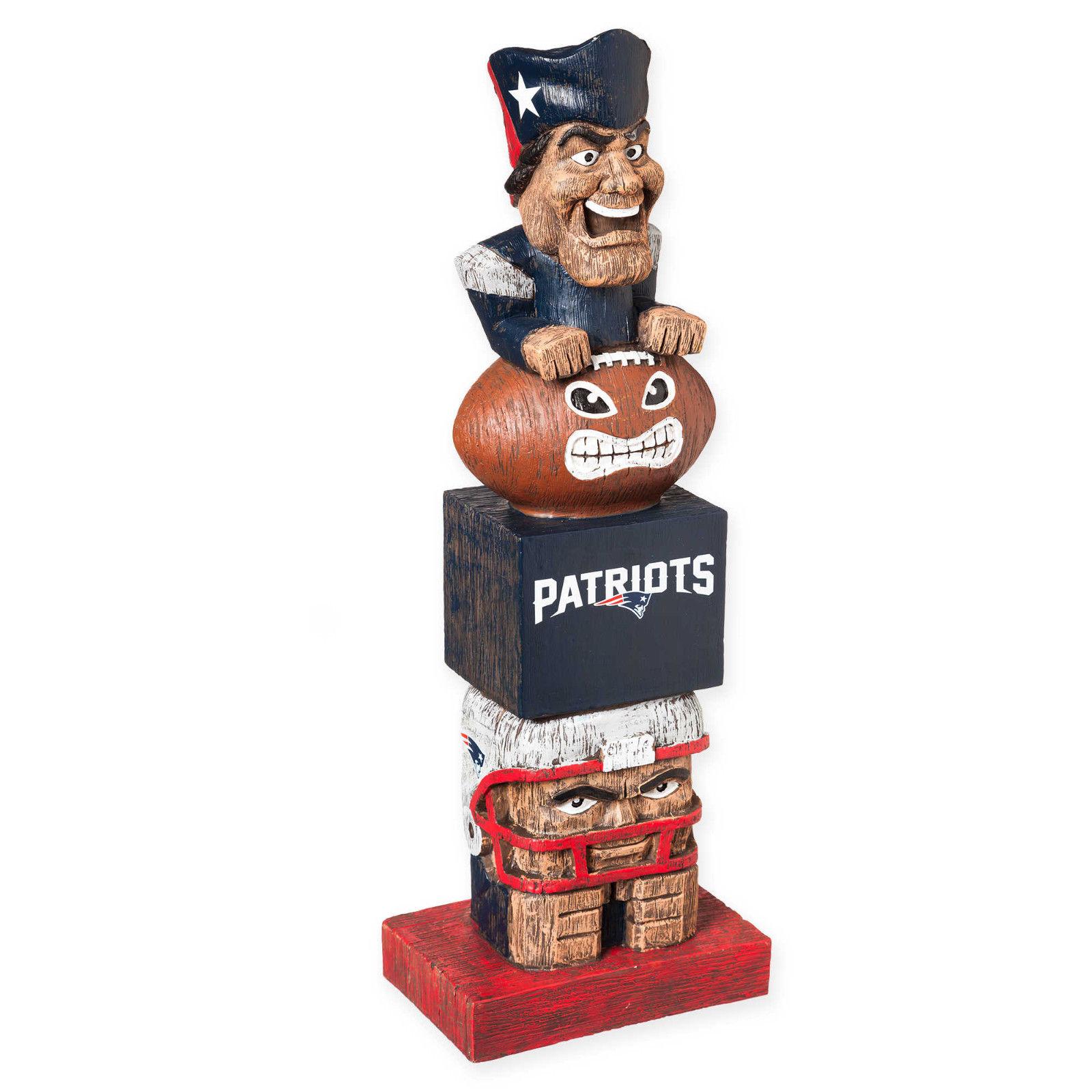 New England Patriots NFL Tiki Totem Lawn Garden Statue all weather Tom Brady