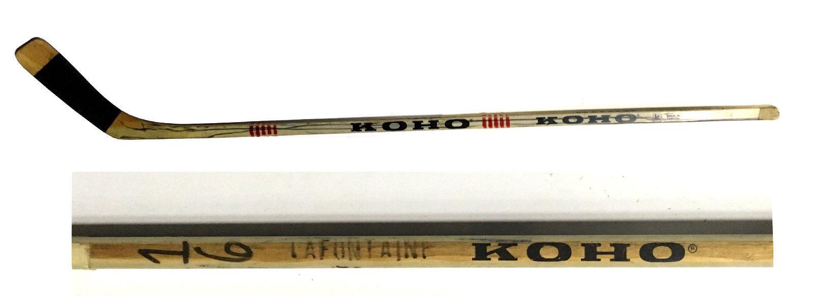 Pat LaFontaine game used Islanders Rookie Era KOHO hockey stick HOF CBM COA