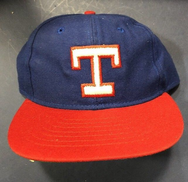 Texas Rangers Brand New Hat Blue Red ON FIELD Game Fitted Hat 6 7/8 MLB SnapBack