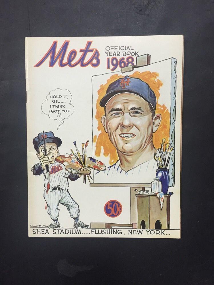 1968 New York Mets Yearbook Nolan Ryan Rookie Nice Team Page Loose Nm