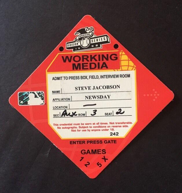 1998 Yankees Division Series Press Pass Ticket Mint Derek Jeter Rare Ws 125-50