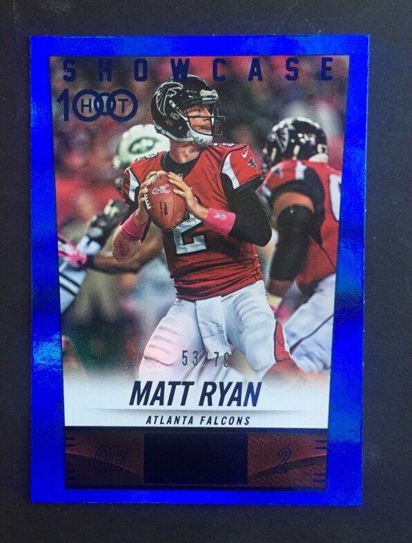 2014 Panini Hot Rookies Showcase Falcons Football Card #305 Matt Ryan 53/79 Mint
