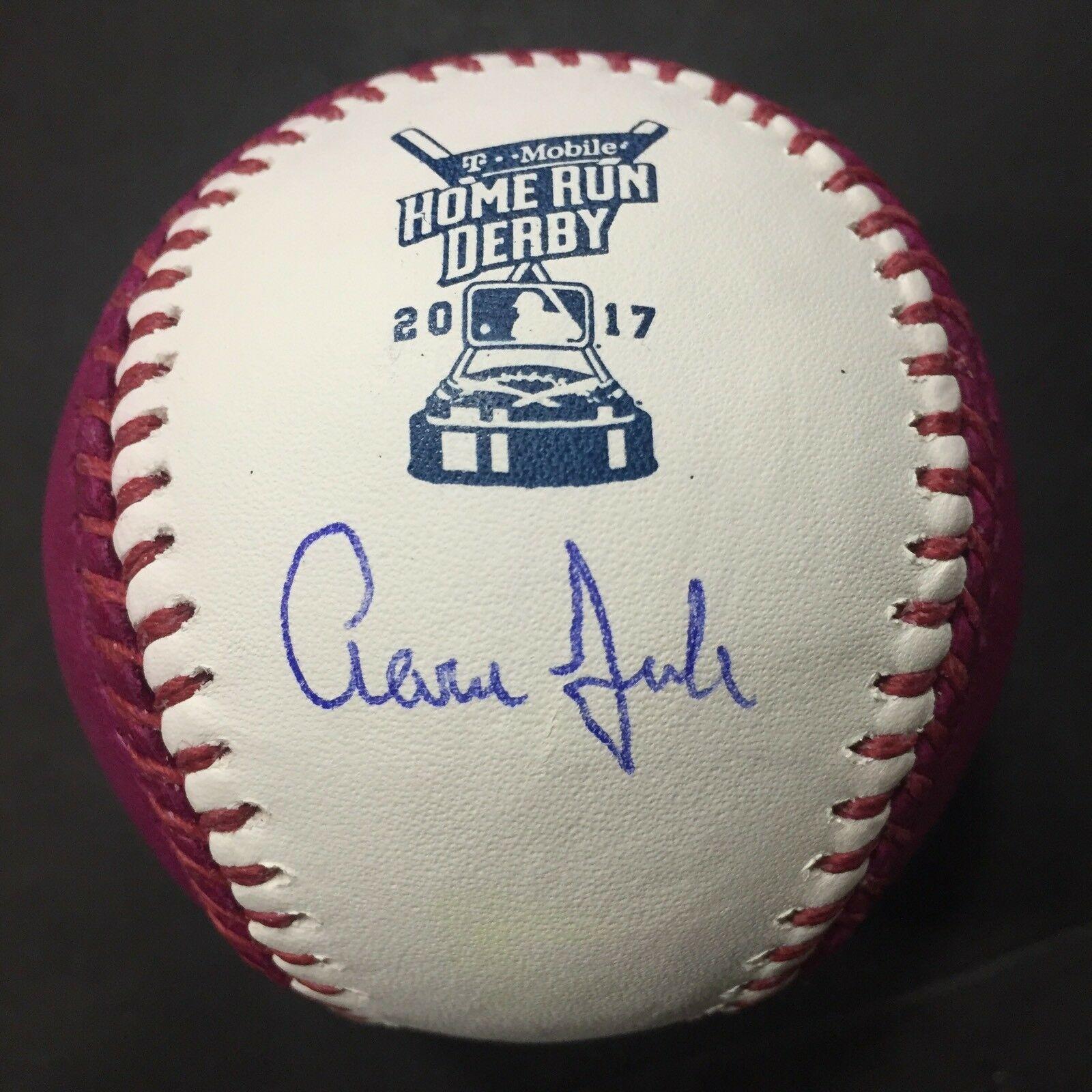 AARON JUDGE Signed 2017 Home Run Derby Moneyball Baseball FANATICS Coa Autograph