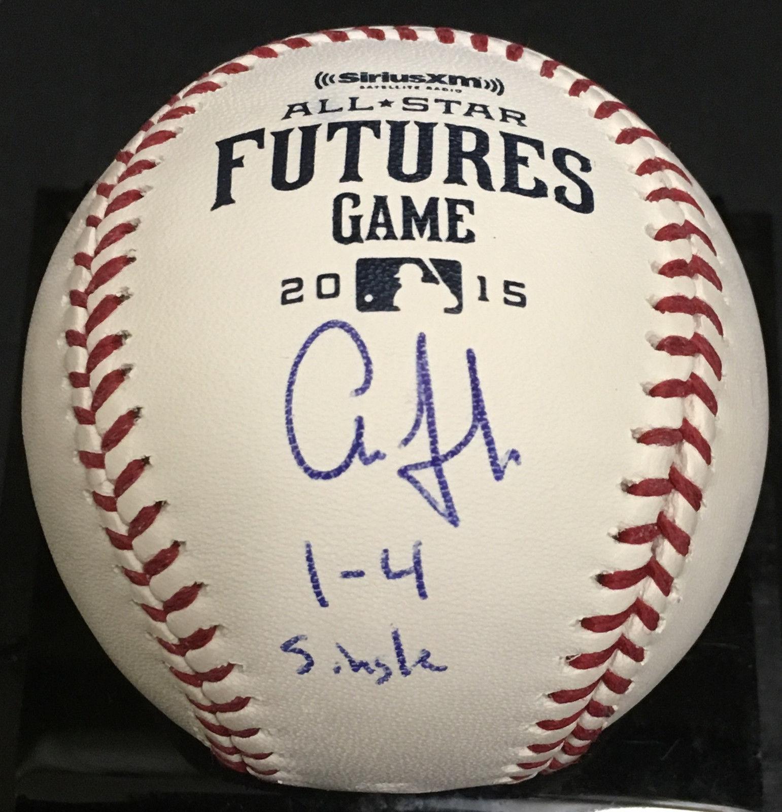 Aaron Judge signed Futures Game baseball ins rookie auto 1-4 JSA witness coa MT