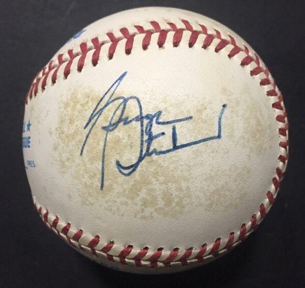 George Steinbrenner Signed Official AL Baseball Bold Autograph Yankees JSA Loa