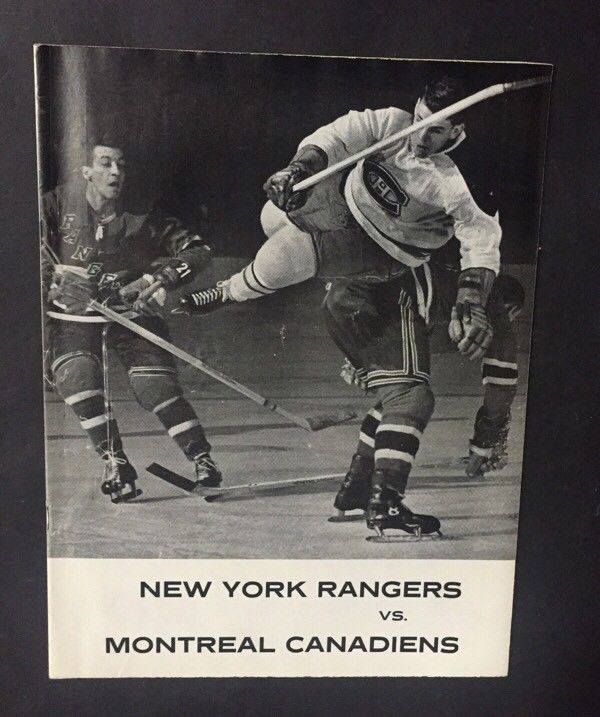 january 8 1961 Montreal Canadiens vs New York Rangers Program Nice msg