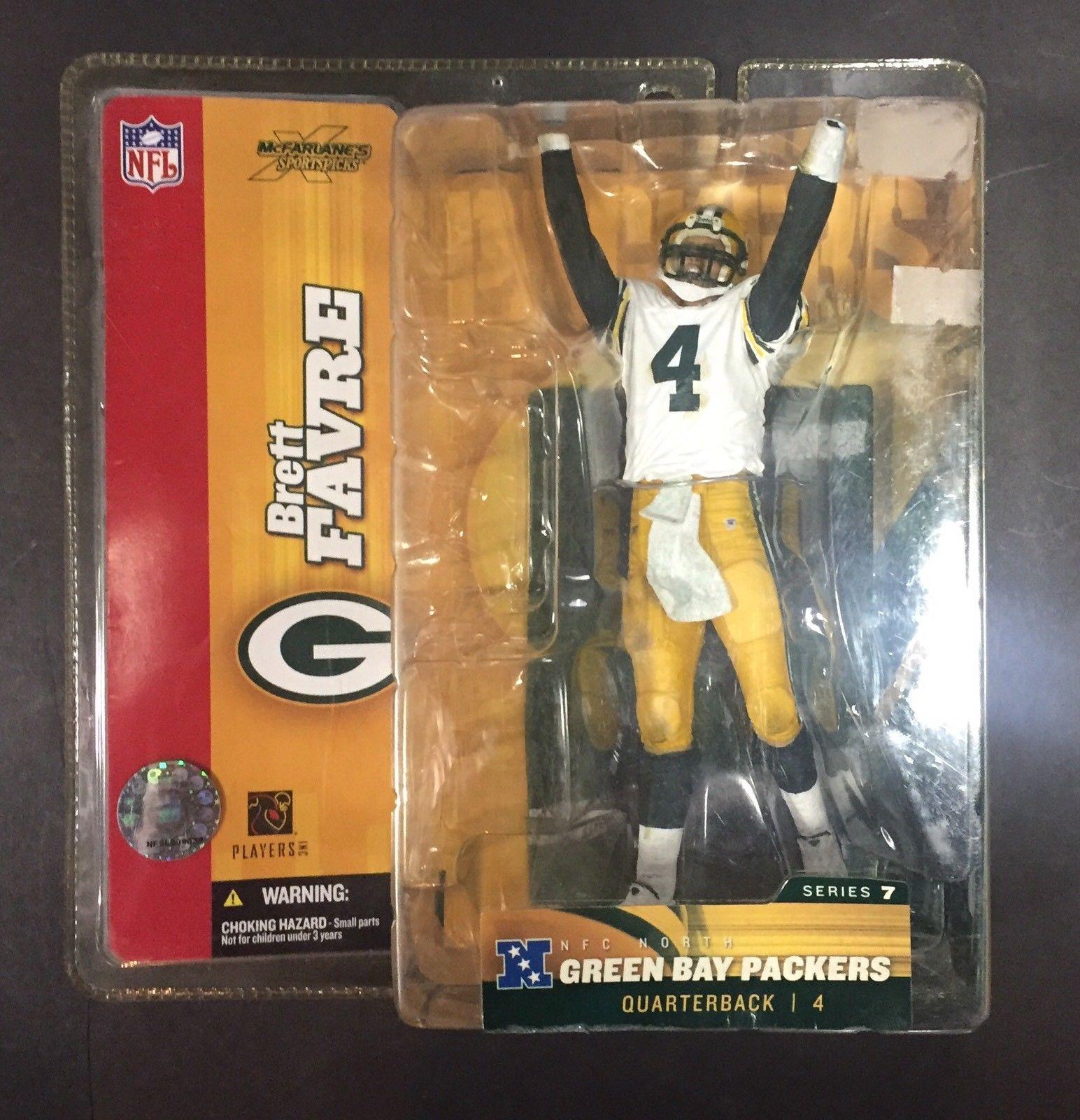 McFarlane NFL Brett Favre Green Bay Packers NIB White Jersey Variant Series 7