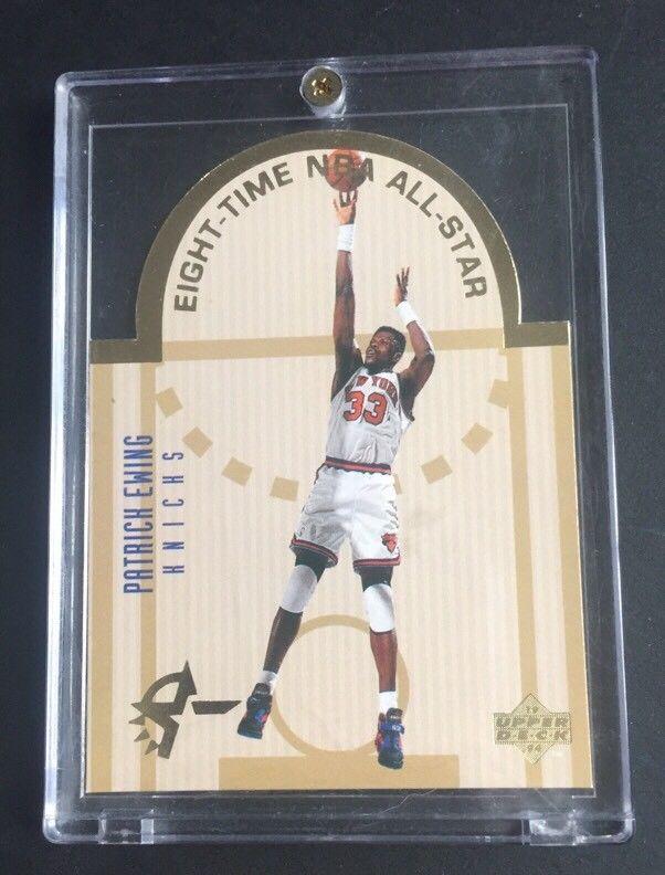 Patrick Ewing 1993-94 UPPER DECK SE ALL-STAR DIE CUT #E11 Ny Knicks  SP Mint Hof
