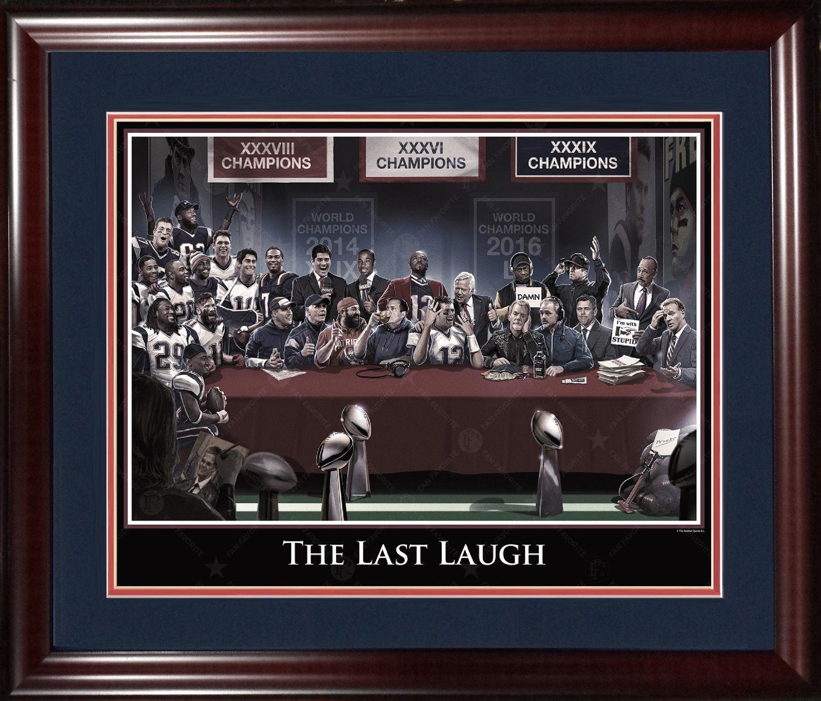 Patriots Last Laugh 16×20 lithograph photo framed Tom Brady Super Bowl LI MVP