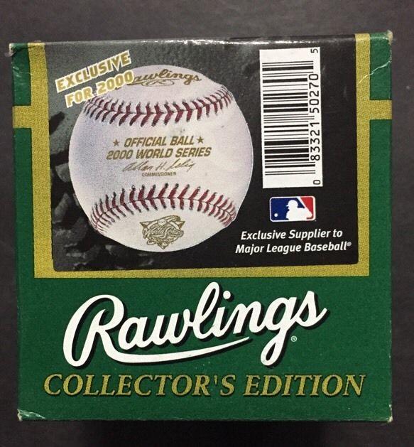 Rawlings 2000 World Series Official  Baseball New York Yankees New In Box Sealed