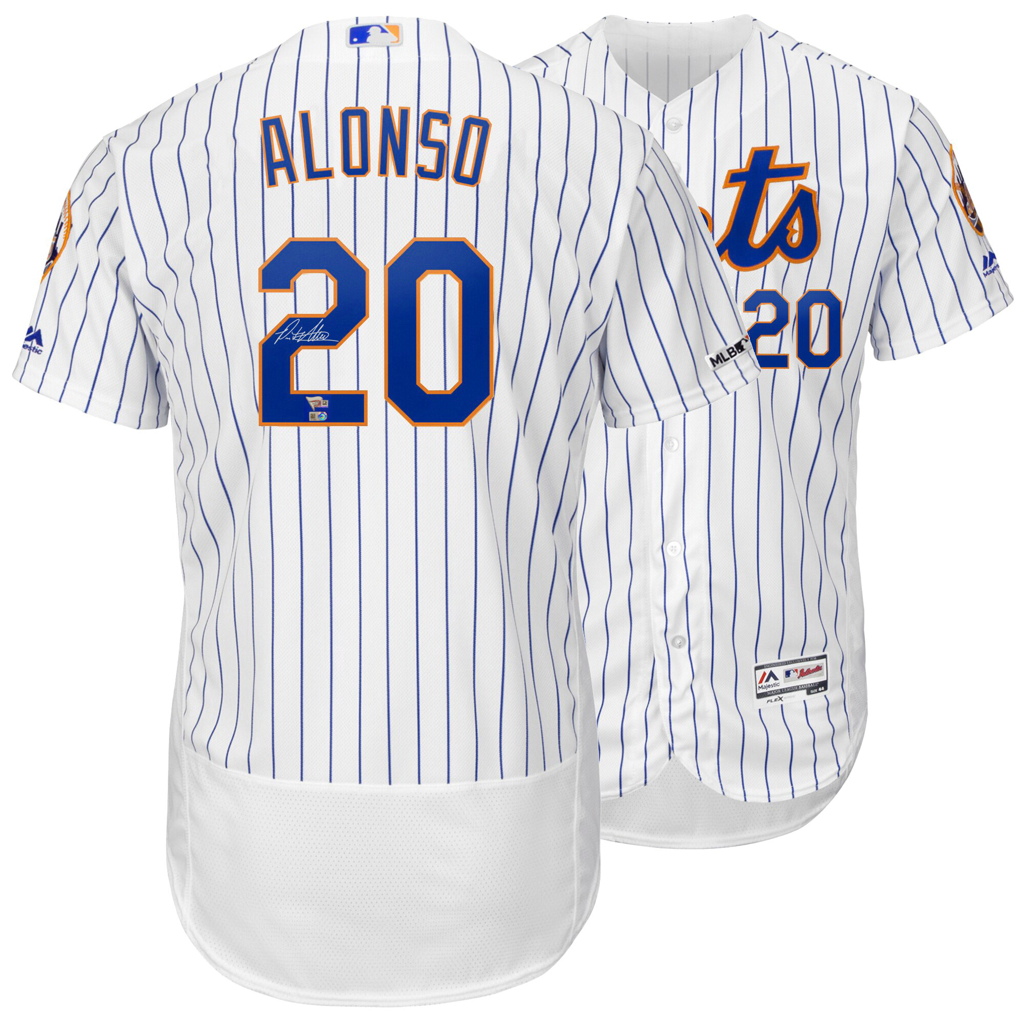 Pete Alonso signed Mets real authentic Jersey Rookie Autograph MLB holo Fanatics COA